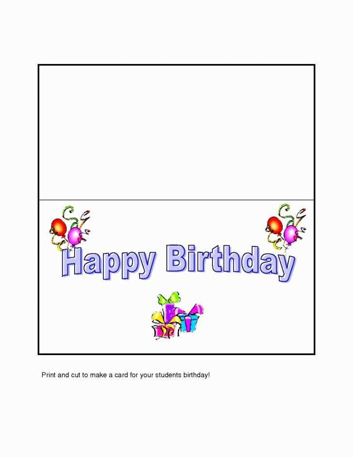 61 Format Happy Birthday Card Microsoft Template Maker with Happy Birthday Card Microsoft Template