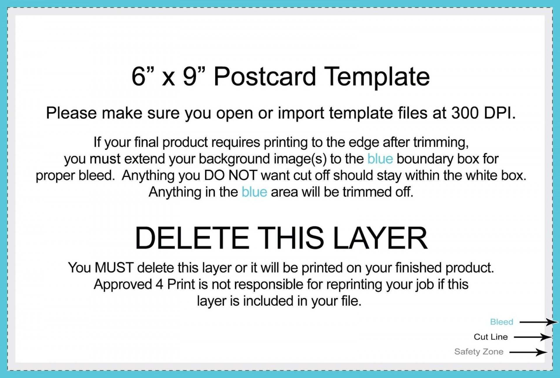 61 Free 6 X 9 Postcard Template Psd in Word with 6 X 9 Postcard Template Psd