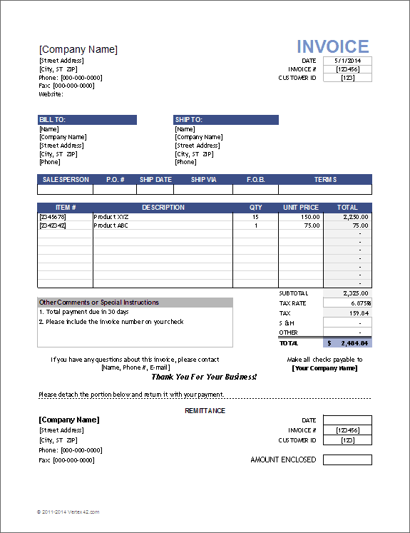 61 Free Blank Tax Invoice Template Free in Word for Blank Tax Invoice Template Free