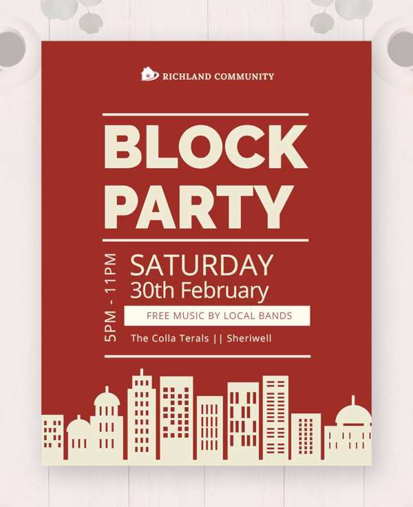 61 Free Printable Block Party Template Flyer For Free with Block Party Template Flyer