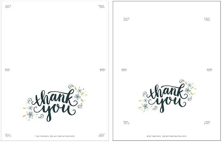 It's just a photo of Printable Thank You Cards regarding name