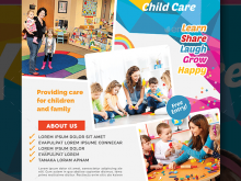 61 Online Child Care Flyer Templates PSD File for Child Care Flyer Templates