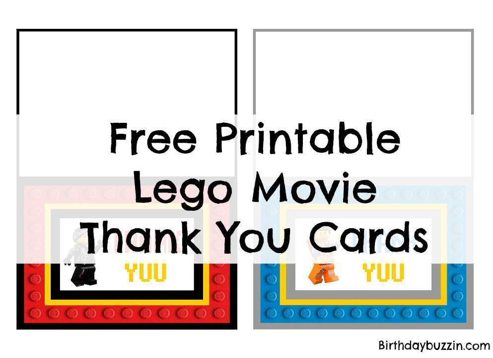 61 Online Lego Thank You Card Template For Free by Lego Thank You Card Template