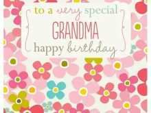 61 Standard Birthday Card Template Grandma for Birthday Card Template Grandma