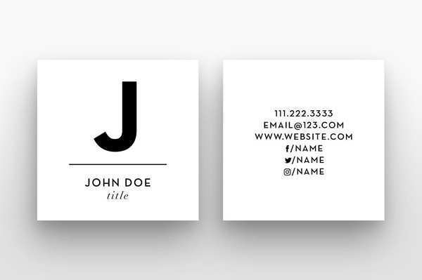 61 The Best Business Cards Templates Square Photo by Business Cards Templates Square