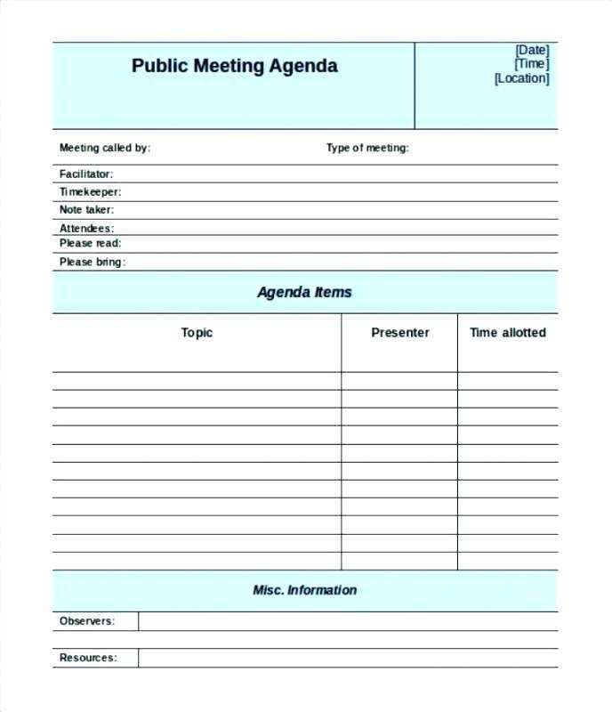 61 Visiting Meeting Agenda Template Childcare For Free with Meeting Agenda Template Childcare