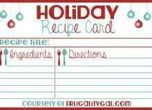 62 Adding Christmas Recipe Card Templates in Word by Christmas Recipe Card Templates