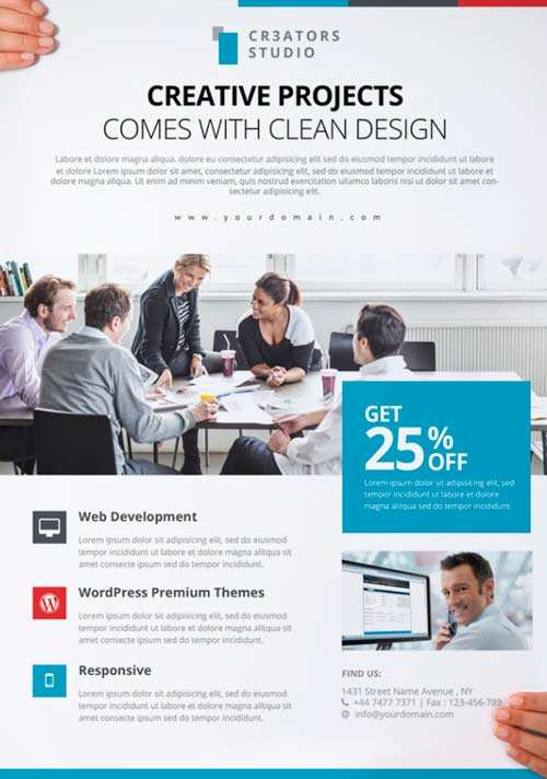 62 Blank Business Flyers Template in Photoshop for Business Flyers Template
