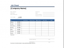 62 Blank Job Card Templates Word With Stunning Design by Job Card Templates Word