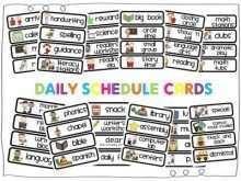 Kindergarten Class Schedule Template