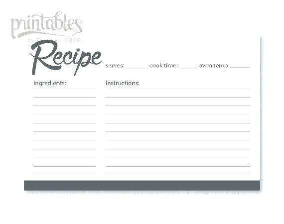 62 Customize 4X6 Recipe Card Template Free Maker by 4X6 Recipe Card Template Free