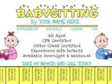 62 Customize Babysitter Flyers Template For Free with Babysitter Flyers Template