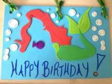 Mermaid Birthday Card Template