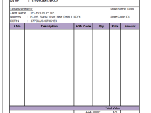 62 Customize Our Free Blank Gst Invoice Format In Excel For Free for Blank Gst Invoice Format In Excel