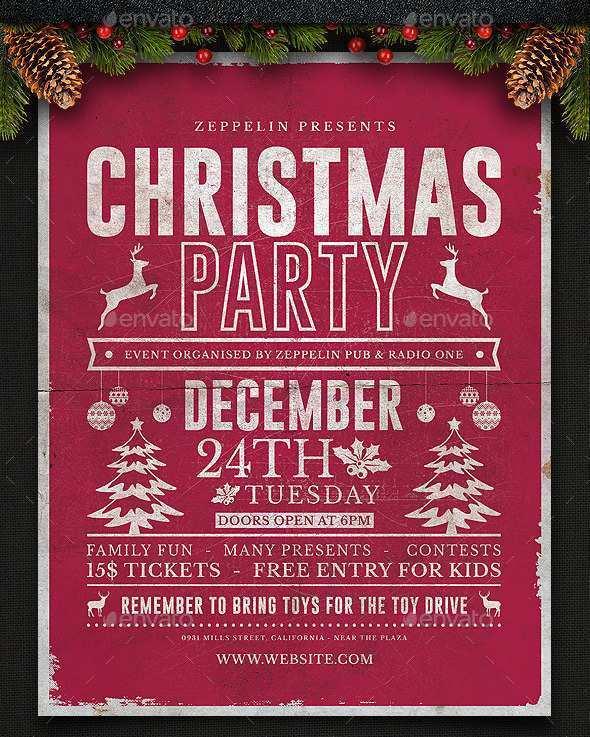 62 Free Printable Christmas Flyer Templates Download with Christmas Flyer Templates