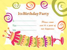 62 Free Printable Invitation Card Template Birthday Formating by Invitation Card Template Birthday