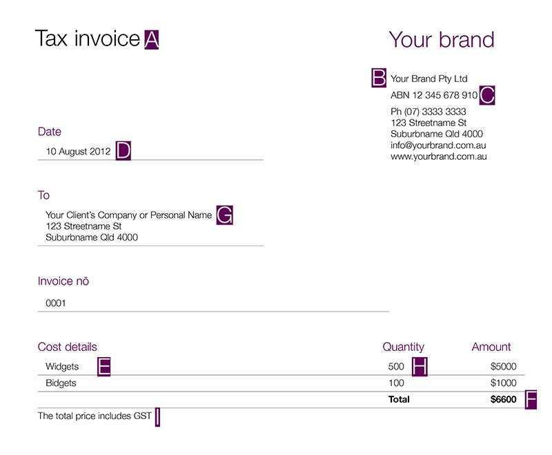 62 Free Tax Invoice Template Australia No Gst Maker For Tax Invoice Template Australia No Gst Cards Design Templates
