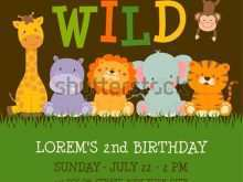 62 Jungle Birthday Card Template in Word for Jungle Birthday Card Template