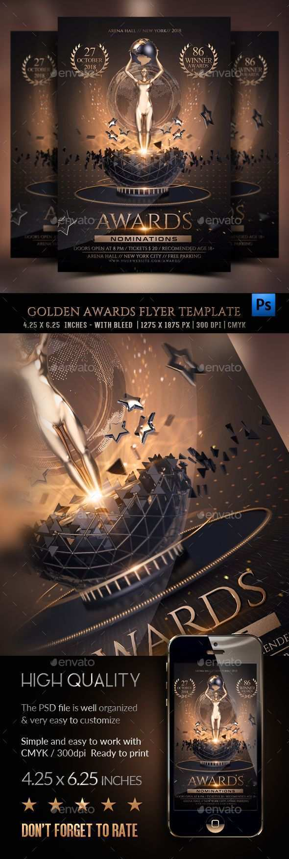 62 Report Awards Flyer Template in Word for Awards Flyer Template