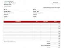 Freelance Musician Invoice Template