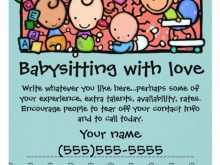 62 Standard Babysitting Flyers Template Photo by Babysitting Flyers Template