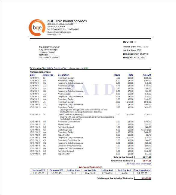62 The Best Blank Hourly Invoice Template Download by Blank Hourly Invoice Template