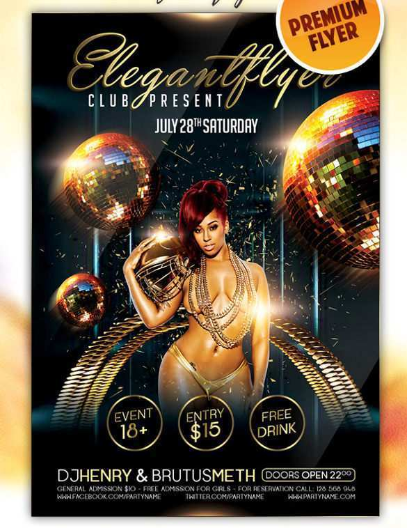 62 The Best Club Flyer Template Psd for Ms Word with Club Flyer Template Psd