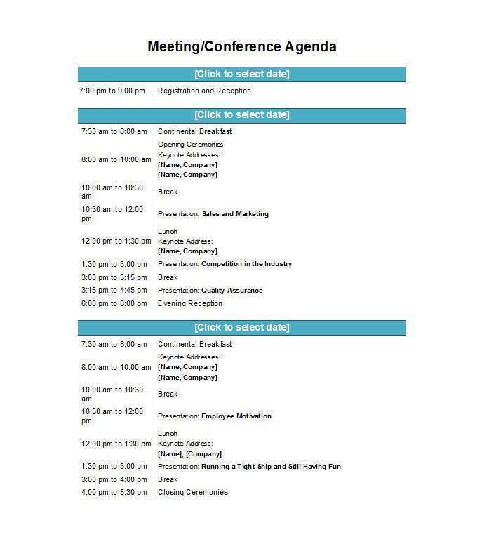 62 Visiting Conference Agenda Design Template in Photoshop for Conference Agenda Design Template