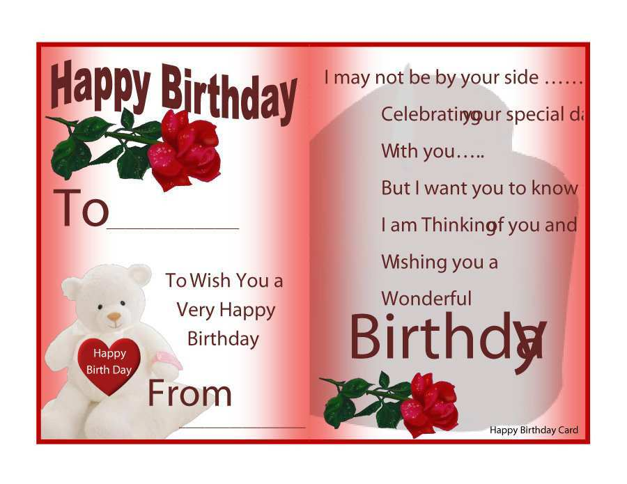 63 Adding Birthday Card Template With Message Layouts for Birthday Card Template With Message