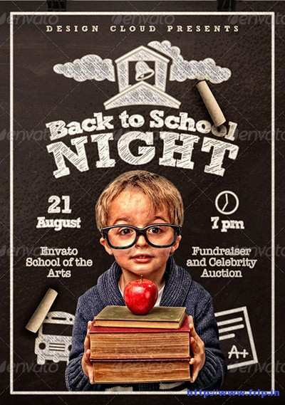 63 Back To School Night Flyer Template Templates with Back To School Night Flyer Template