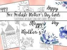 Mother'S Day Card Templates To Colour