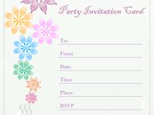 63 Blank Invitation Card Template Birthday Photo for Invitation Card Template Birthday
