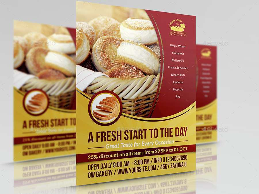 63 Create Bakery Flyer Templates Free For Free by Bakery Flyer Templates Free