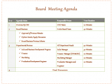 63 Creative Board Meeting Agenda Template Photo by Board Meeting Agenda Template