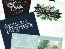 63 Creative Happy Holidays Card Template Free For Free with Happy Holidays Card Template Free