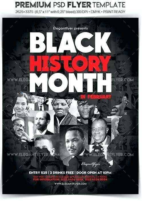 63 Customize Our Free Black History Month Flyer Template With Stunning Design with Black History Month Flyer Template