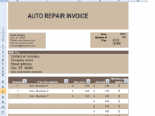 63 Customize Our Free Car Repair Invoice Template Pdf Formating by Car Repair Invoice Template Pdf