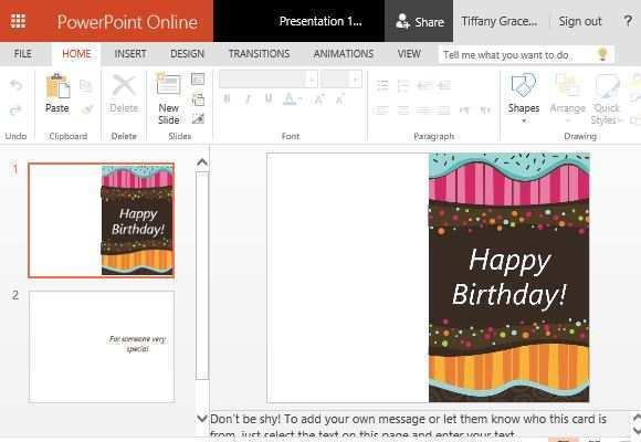63 Free Birthday Card Templates Powerpoint Layouts by Birthday Card Templates Powerpoint