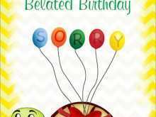 63 How To Create Belated Birthday Card Template for Ms Word with Belated Birthday Card Template