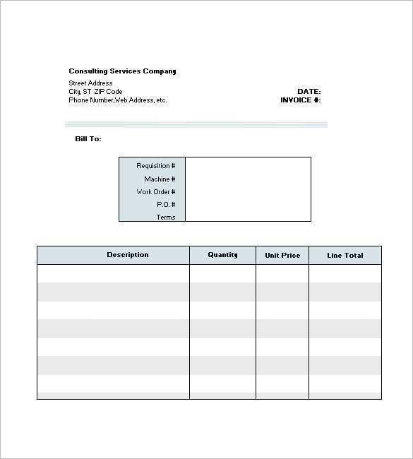 63 How To Create Invoice Format For Consultancy Services for Ms Word with Invoice Format For Consultancy Services