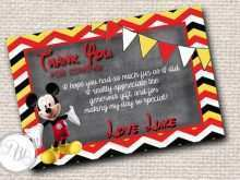 63 How To Create Mickey Thank You Card Template Now by Mickey Thank You Card Template