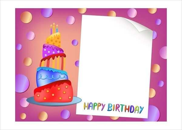 63 Standard Birthday Card Template With Photo Free for Ms Word for Birthday Card Template With Photo Free