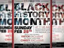 64 Adding Black History Month Flyer Template Formating by Black History Month Flyer Template