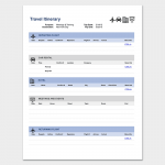 64 Adding Business Travel Itinerary Template Pdf Photo for Business Travel Itinerary Template Pdf