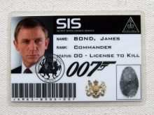 64 Best 007 Id Card Template Photo with 007 Id Card Template