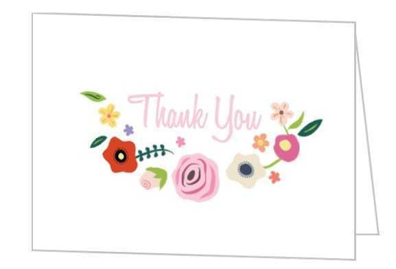 64 Best Bridal Shower Thank You Card Templates Templates by Bridal Shower Thank You Card Templates
