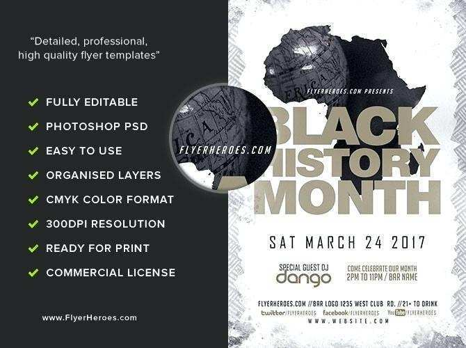 64 Create Black History Month Flyer Template Free Layouts by Black History Month Flyer Template Free