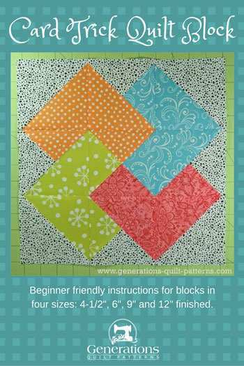 64 Create Card Trick Quilt Template in Photoshop for Card Trick Quilt Template