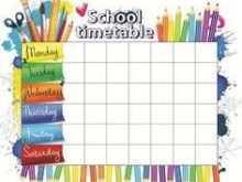 64 Create Class Schedule Template Elementary School for Ms Word with Class Schedule Template Elementary School