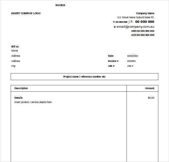 64 Create Company Invoice Template Excel in Word by Company Invoice Template Excel